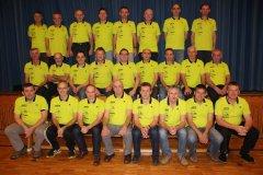 Gruppenfoto zum 20jährigen Jubiläum der Herren-Freizeitsportgruppe.